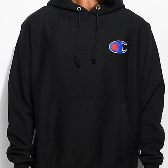 Champion Reverse Weave Big C Black Hoodie